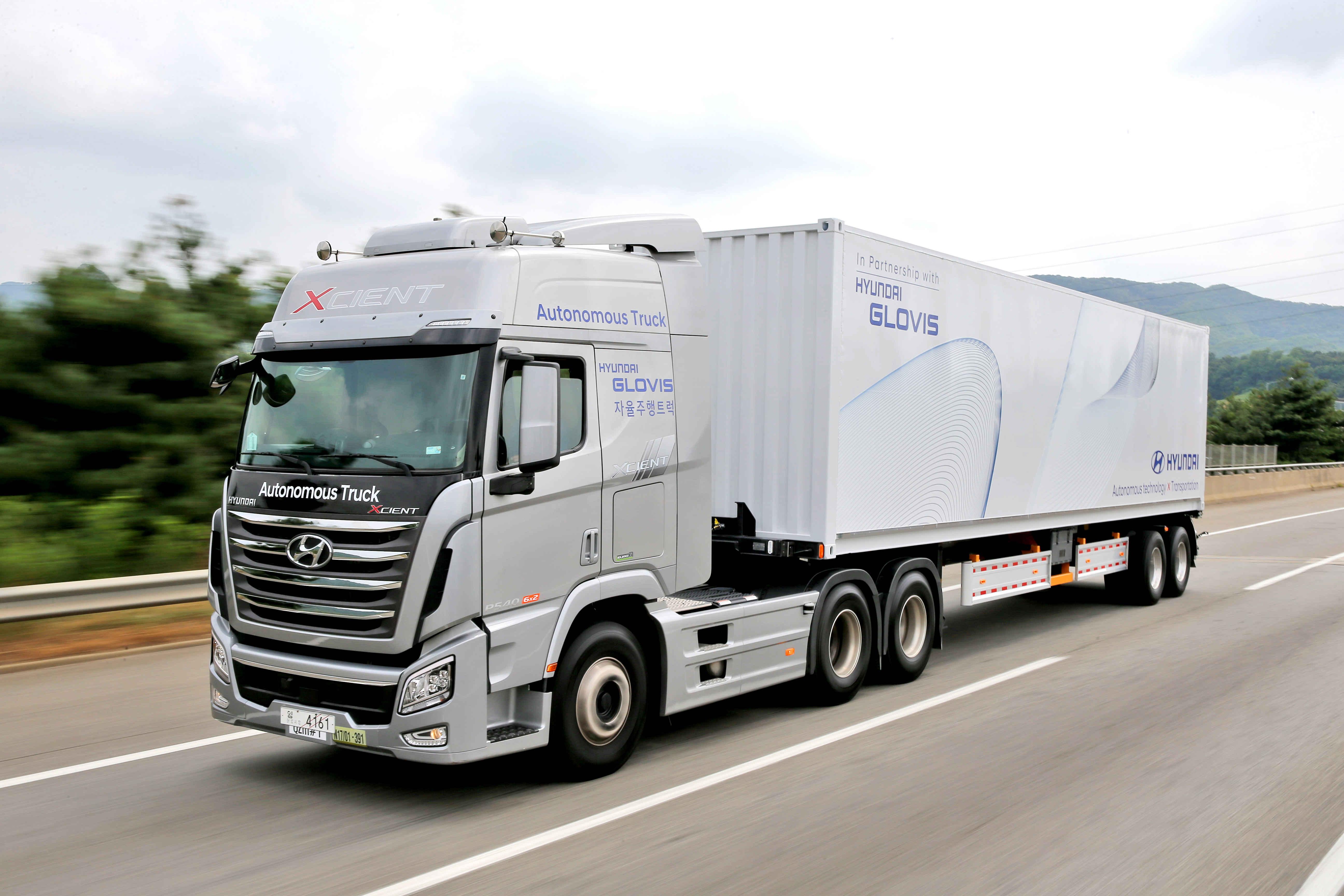 Autonómny nákladiak Hyundai 2018